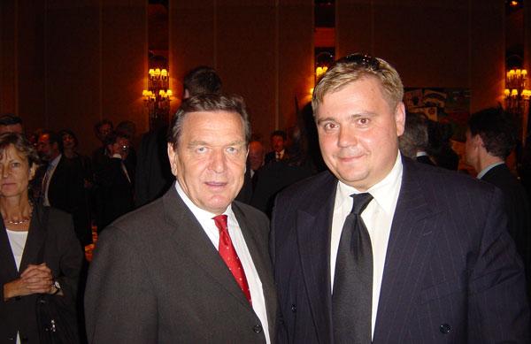 Герхард Шрёдер и Виктор Ларин